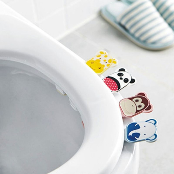 Toilet seat cover lifters handle hygienic clean lifts self-adhesive cute cartoon