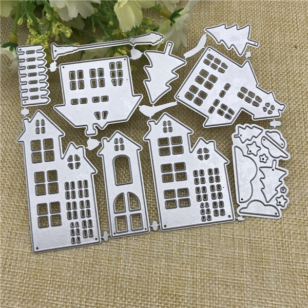 Store Shaped Metal Cutting Dies Stencil for DIY Scrapbook Photo Album Decorative