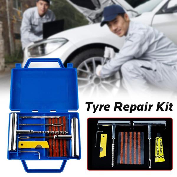Emergency Car Van Motorcycle Tubeless Tyre Tire Puncture Repair Kit