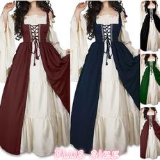 renaissancegown, Plus Size, long dresses, Long Sleeve
