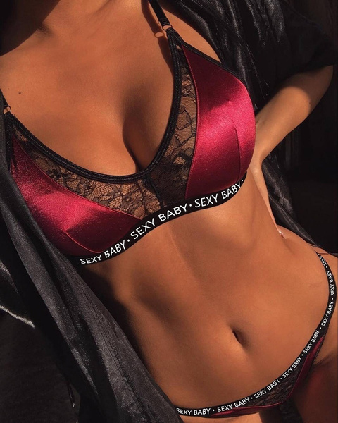 New Women Lace Satin Bra Set Underwear Push Up Bra And Brief Sets Ladies Bra And Panty Sets by Wish