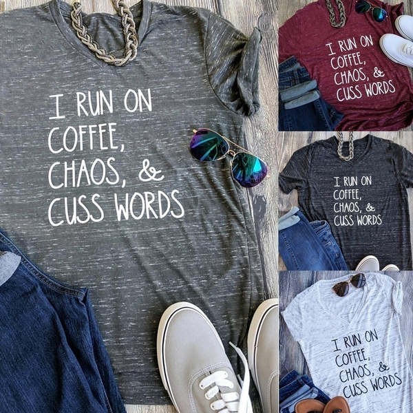 Cotton, Funny, Coffee, Plus Size