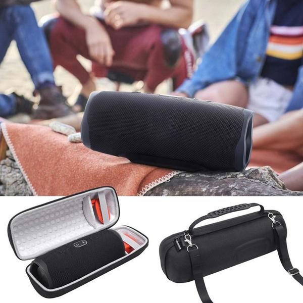 Hard EVA Speaker Case With Strap Shoulder Bag for JBL Charge 4 Bluetooth  Speaker Extra Space for Cable Charger TGB