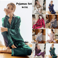 women's pajamas, nightwear, Plus Size, Sleeve