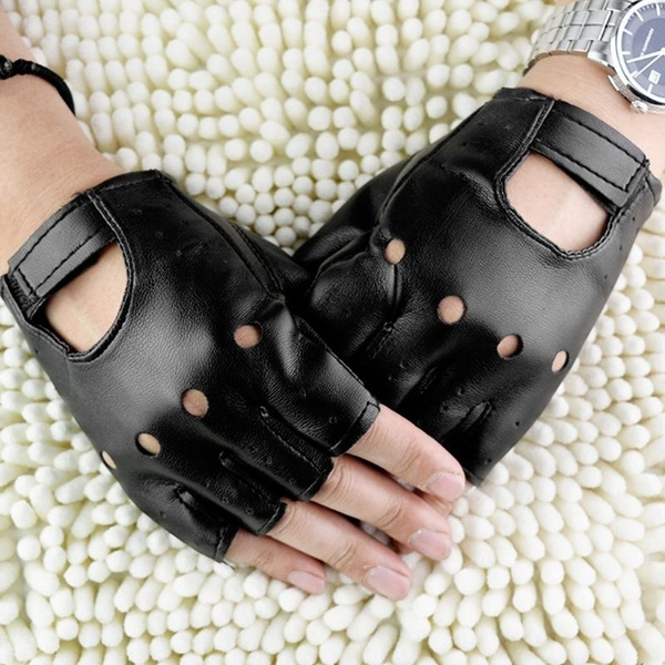 Mittens, Hollow-out, leather, costumeglove