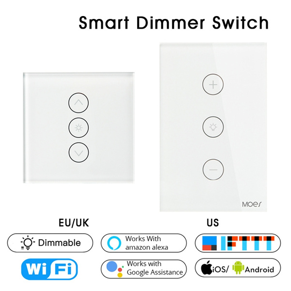 Lamp Switch WiFi Smart Dimmer APP Remote Control with Amazon Alexa Google Home