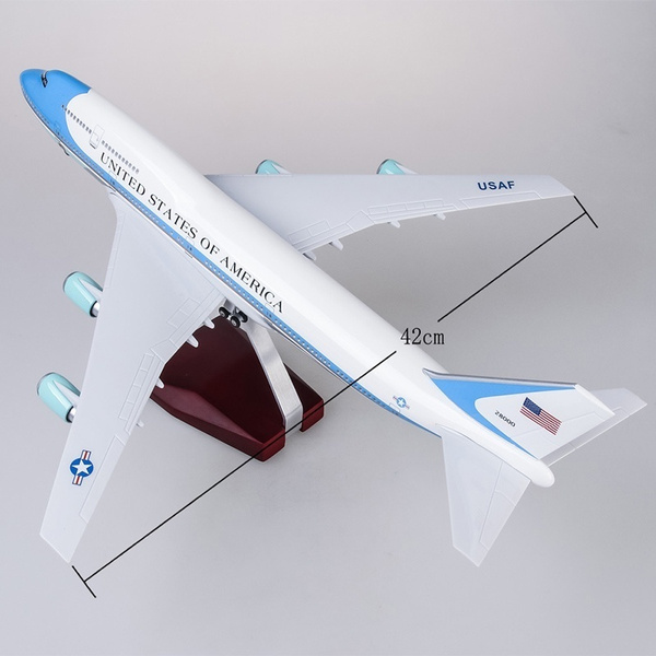 Christmas Gift 47cm Airplane Model Toys Boeing 747 Air Force One