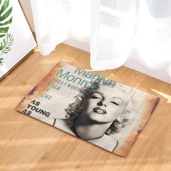 15.7x23.6 Marilyn Monroe Door Mat Digital Printing Foot Pad Bathroom  Kitchen Bathroom Strip Absorbent Mat