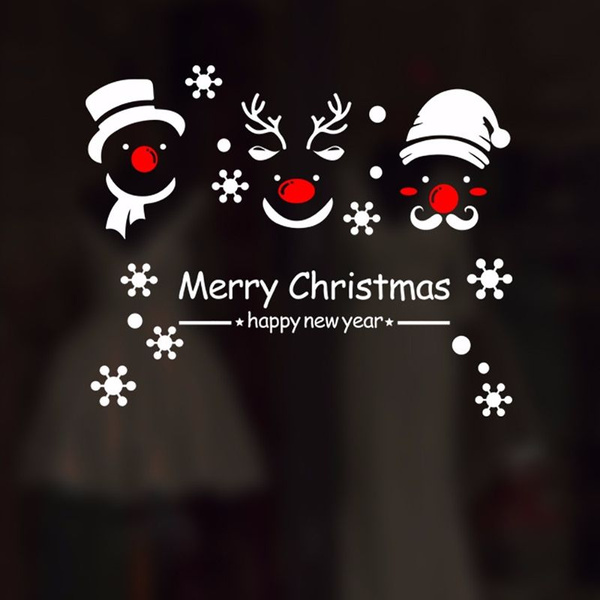 Merry Christmas Vinyl Art Window Store Wall Stickers Decal Decor Xmas Decal T