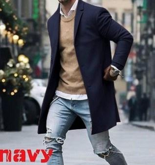 woolen coat, men coat, Fashion, menlapelcoat