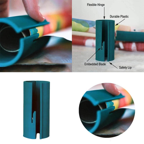 Sliding Wrapping Paper Cutter Xmas Gift Wrap Packing Roll Cutter Tool 2019
