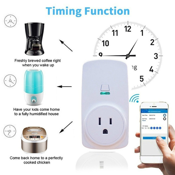 10A/16A Smart WiFi Plug Power Socket Home Automation App Remote Control  Timer Switch Outlet for Amazon Alexa and Google Home