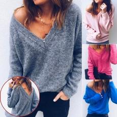 woolen, V Collar, Fashion, Knitting
