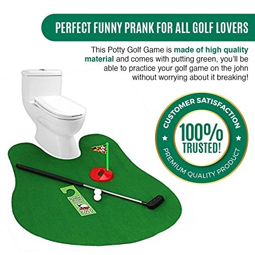 Incredible Etcbuys Potty Golf Game Potty Putter Toilet Game Putting Green With Golf Balls Funny Bathroom Game Gag Gift Prank Golf Toy Training Tool For Evergreenethics Interior Chair Design Evergreenethicsorg