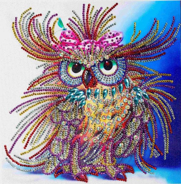 DIY 5D Diamond Embroidery Painting Owl Animal Cross Stitch Craft Home Decor 5H