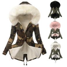 furhoodie, Fashion, Winter Coat Women, camojacket