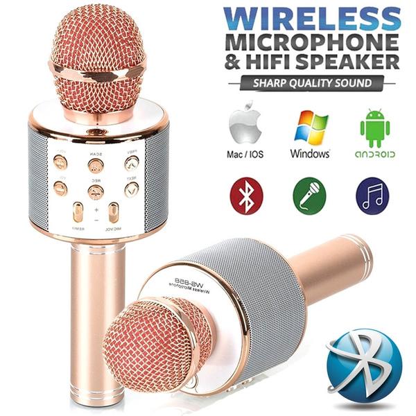 Wireless Bluetooth Handheld Microphone KTV Karaoke Microphone with Speaker  for IOS Android Phone Computer Karaoke