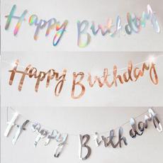 bannerbunting, party, Decoración, birthdayflag