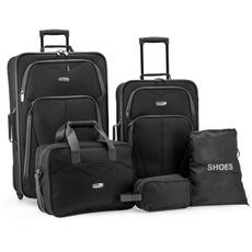 luggageset, black, Luggage