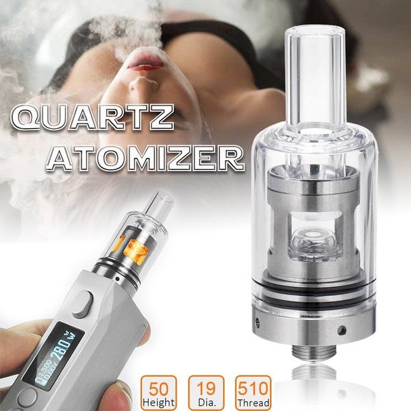 Longmada Motar 510 Thread Quartz Coilless Wax Atomizer Glass Mouth Heating  Chamber Attachment