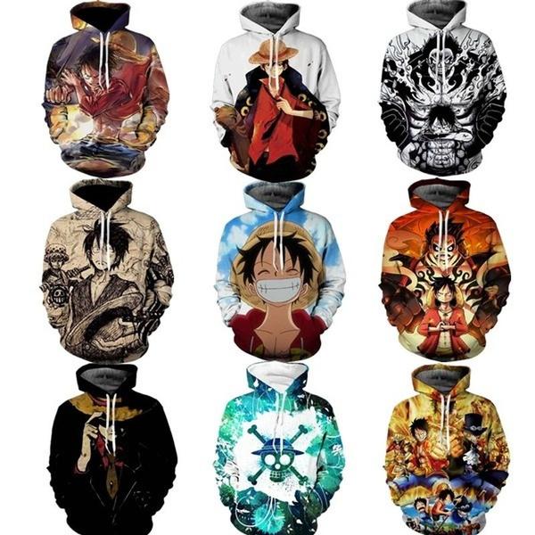 3D hoodies, Fashion, onepiecehoodie, onepiecesweatshirt