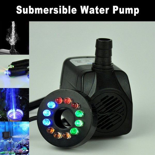 12LED 504L/H Super Silent Submersible Water Pump Fountain Water Pump  Hydroponics Aquarium Pump Outdoor Fountain Pumps For Aquarium Pond Fish Tank