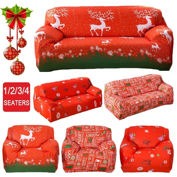 Fabulous 1 4 Seaters Christmas Recliner Sofa Covers Universal Stretch Loveseat All Inclusive Sofa Covers Chair Furniture Protector Slip Resistent Couch Theyellowbook Wood Chair Design Ideas Theyellowbookinfo