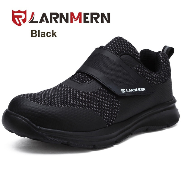 f09b738296fc LARNMERN Men Velcro Steel Toe Safety Shoes Pucture-proof Work Shoes Outdoor  Sneakers