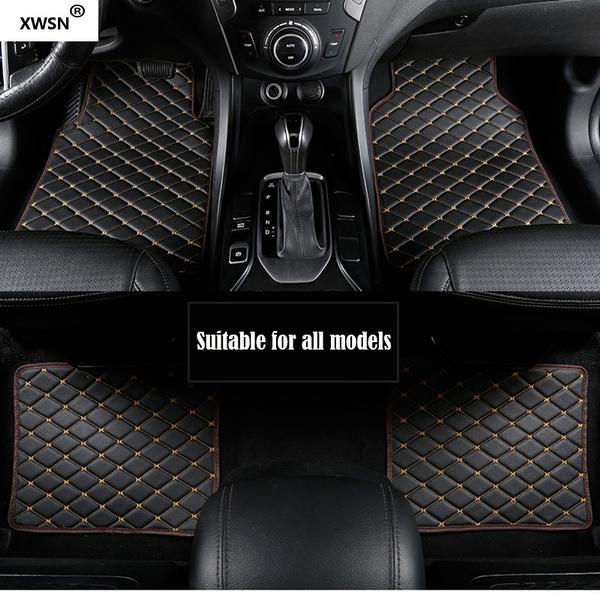 black/&red black/&red 4pcs Car-Pass Universal Car Floor Mats For Auto Anti-Slip Mat Car Floot Mats Car Styling