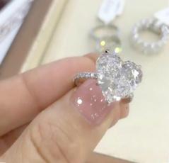 Sterling, Heart, DIAMOND, Princess