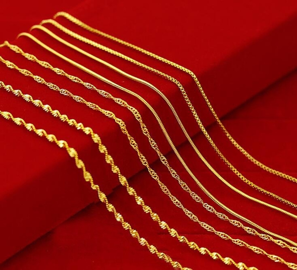 yellow gold, Box, Chain Necklace, necklaces for men