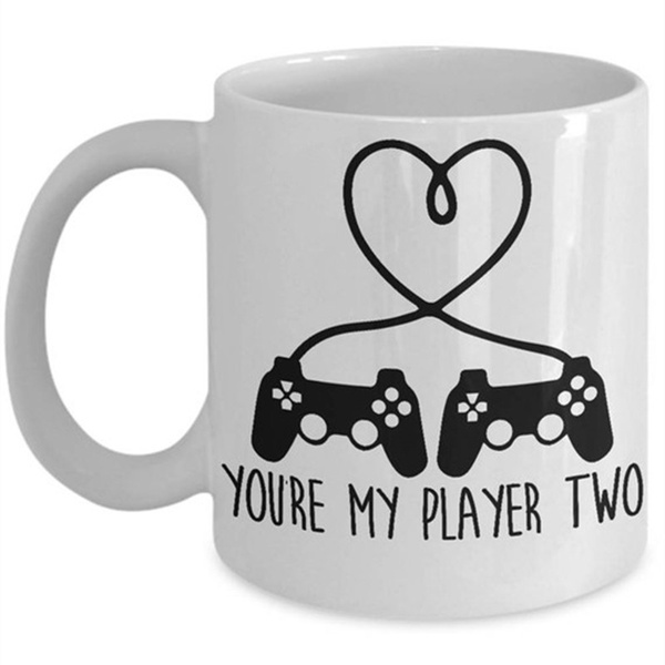 Game Coffee Mug | You're My Player Two | Video Gamer Mug | Coffee Mug for  Gamer | Funny Gamer Gifts | Gifts for Gamers | Gamer Gift