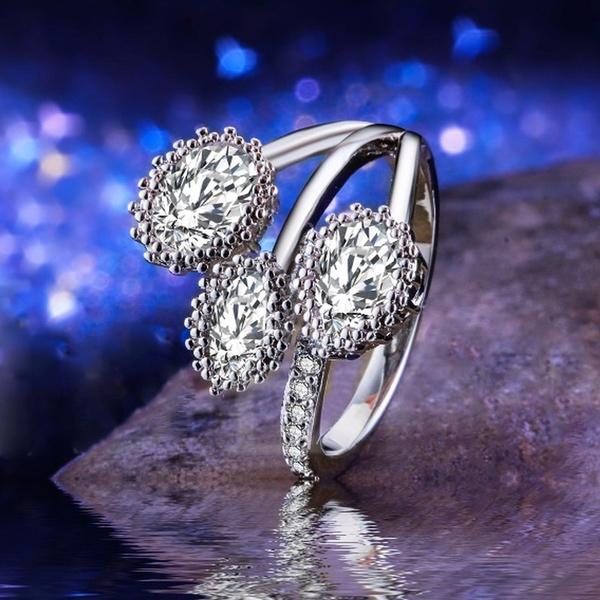 Women, Flowers, Women Ring, 925 silver rings