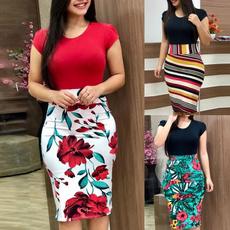 Shorts, Floral print, short dress, Sleeve
