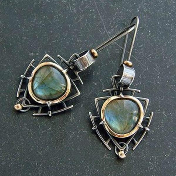 """Labradorite Gemstone 925 Sterling Silver Jewelry Long Dangle Earrings 2.5/"""""""