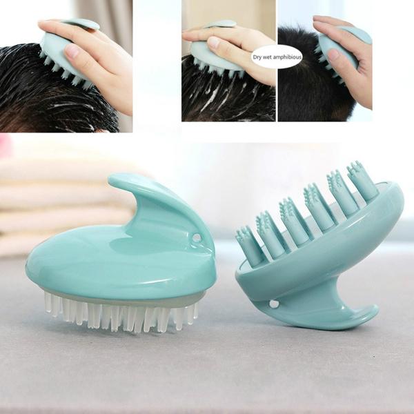 Scrub Brush Massage Head Comb Head Silicone Shampoo Shampoo Hair Brush Wash My Pet Brush Brush Wish