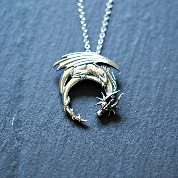 Sterling, Goth, mens necklaces, Medieval
