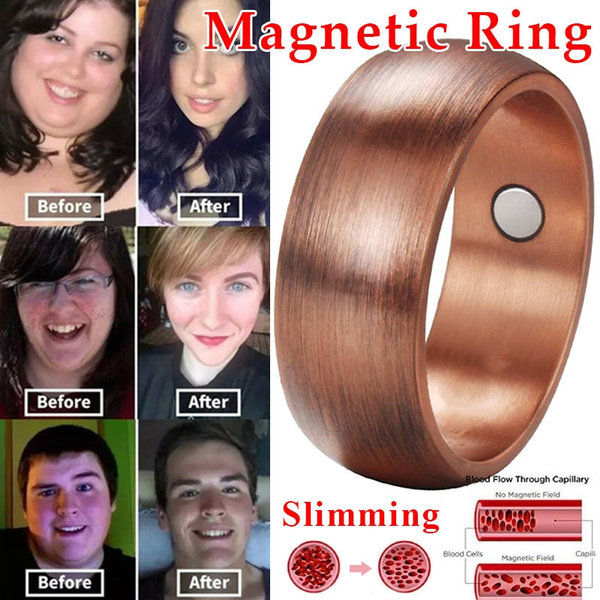 Magnetic Band Healthcare Weight Loss Ring Slimming Healthy Ring Jewelry Gift TDO