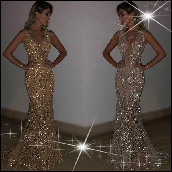 Vestiti Eleganti Su Wish.Sam Louise Hot Sale Luxurious Sparkling Prom Dress Perspective