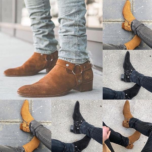 Autumn Winter Men Boots Fashion Suede