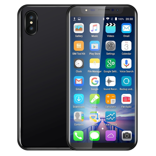 Face ID Smart Phone 5 8Inch IPS Screen Android Smartphone Dual SIM Dual  Camera 500W Bluetooth GPS 3G Smart Phones Voice unlock Mobile Phone (Free