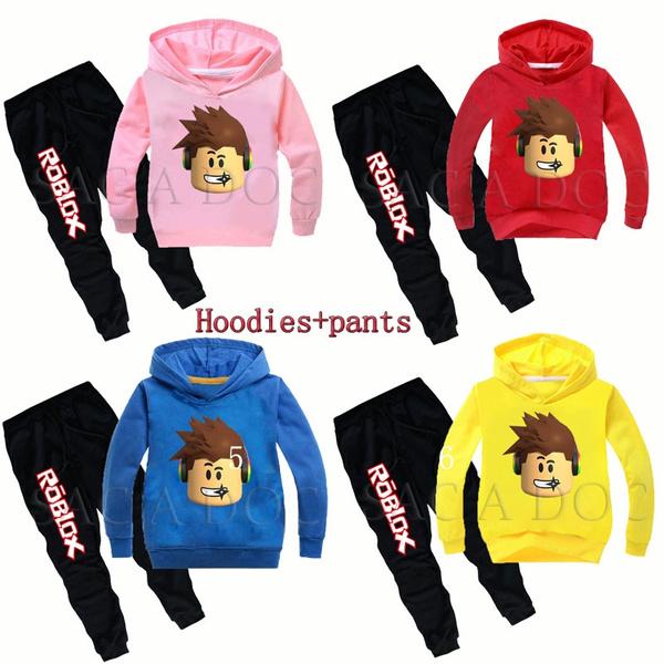 Roblox Kids Suit Roblox Hoodies Pants Hooed Sweatshirt Cartoon