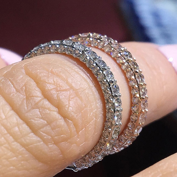 Sterling, stackablering, 925 silver rings, Engagement Ring