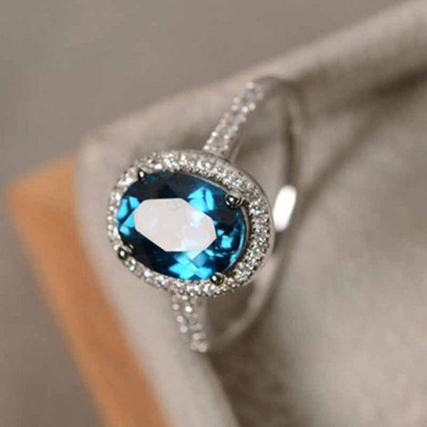 Blues, Sterling, Fashion, wedding ring