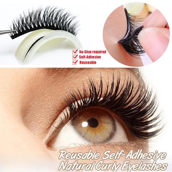 1d738412f51 3D No Glue False Eyelashes Self Adhesive Eye Makeup Fake Lashes ...