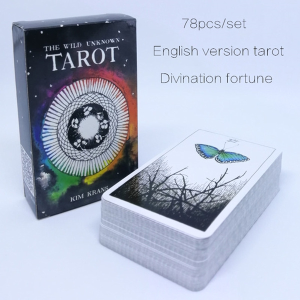 English Deck Tarot Cards Silver Plating Prisma Visions Tarot Board Game For  Party Cards Game 79 Pcs/set