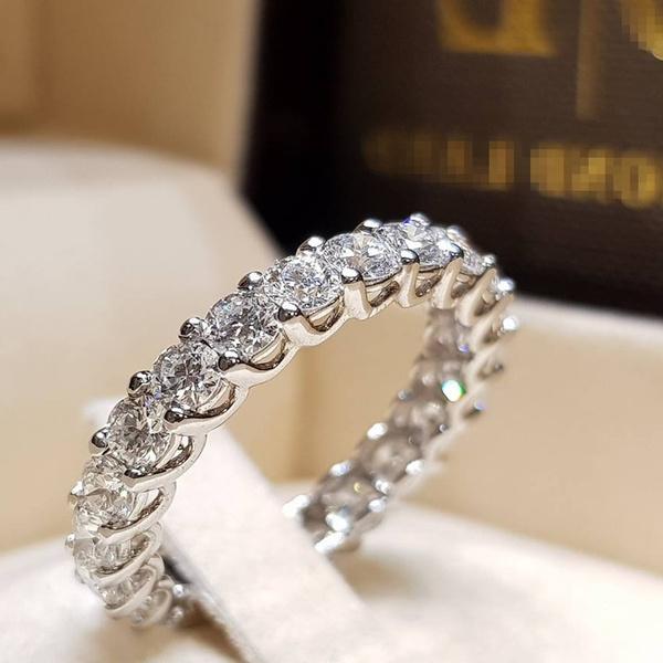 Beautiful And Simple Wild Women S Fashion 925 Silver Diamond Ring