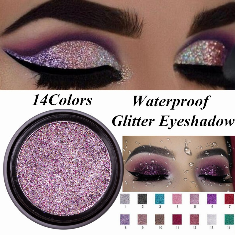 a986928231fc7 Details about Glitter Makeup Waterproof Long Lasting Natural Eye Shadow  Shimmer Eyeshadow