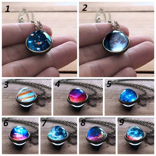 Necklace, solarsystem, glassdome, sphereball