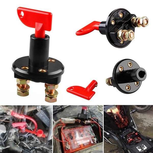 12V//24V Car Truck Battery Disconnect Isolator Cut OFF Terminal Power Kill Switch